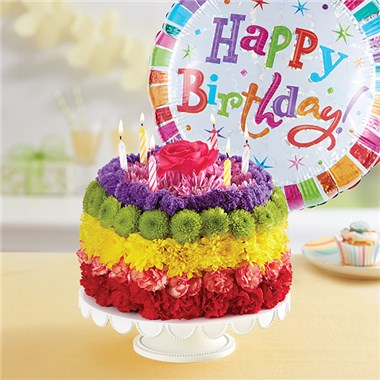 Outstanding 1 800 Flowers Birthday Wishes Flower Cake Rainbow 1 800 Funny Birthday Cards Online Aeocydamsfinfo